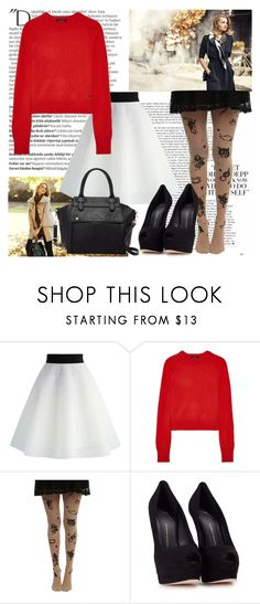 """""""Let me hold both your hands in the holes of my sweater"""" by shadow13goddess101 ❤ liked on Polyvore featuring Balmain, Chicwish, Equipment, Giuseppe Zanotti and Pink Haley"""