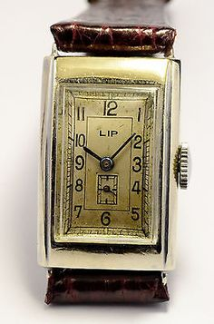 MONTRE ANCIENNE Lip T18 ART DECO 1930'S VINTAGE FRENCH WATCH  | eBay