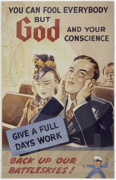 you can fool everybody but GOD and your conscience! #WWII