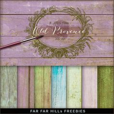 Far Far Hill - Free database of digital illustrations and papers: New Freebies Kit of Backgrounds - Old Provence