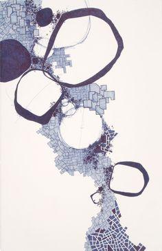 "Derek Lerner; Pen and Ink 2010 Drawing ""Asvirus 23"""