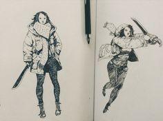 Just drawing woman