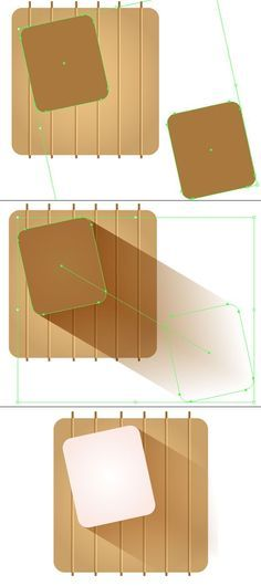 Create a smooth blend to give the illusion of a long shadow:  #designtools