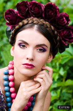 Frida Style Photosession © Esteri Photo  Photo: Esteri Photo MUA: Marina Sokurenko Hair: Snezhana Lushpey Model: Tetyana Shapiro