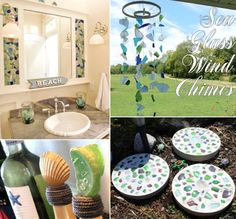 Browse inspiring #seaglass #crafts on Completely Coastal: http://www.completely-coastal.com/search/label/Seaglass%20Crafts