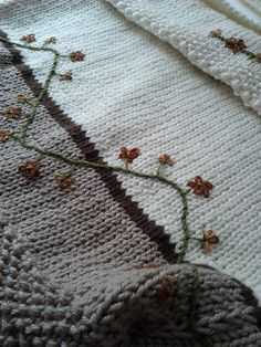 From the Patchwork Chicken blog ... doesn't take much embroidery to make stockinette stitch amazing
