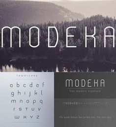 Description: Introducing an elegant, modern and light font, Modeka is the typeface for you. Free for download. File format: .otf for Photoshop or other vector software. File size: 1 Mb.