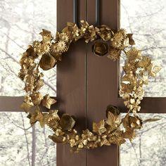 Gilded Metal Wreath