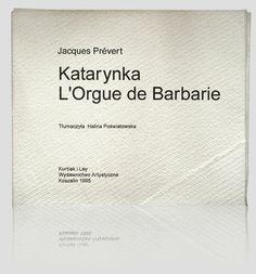 """""""Katarynka - The barrel organ L'Orgue de Barbarie"""" - Jacques Prévert. The cover was made in a form of envelope from hand-made paper. The book has an original form of a concertina. Unique books.  www.kurtiak-ley.com/j-prevert-the-barrel-organ-lorgue-de-barbarie/. Książka-obiekt. Okładkę stanowi koperta z papieru ręcznie czerpanego. Książka ma oryginalną formę złączonej harmonijki. Artystyczna oprawa książek. www.kurtiak-ley.pl/prevert-jacques-katarynka-lorgue-de-barbarie/"""