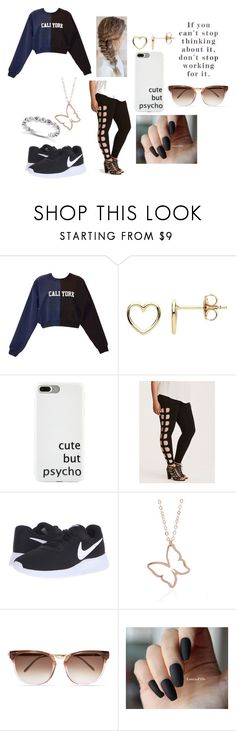 """Cali-York"" by mina-lisha ❤ liked on Polyvore featuring Cynthia Rowley, Estella Bartlett, Stella & Dot, Torrid, NIKE, Thierry Lasry and Allurez"