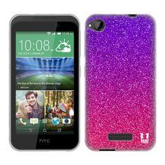 Silikonové pouzdro na mobil HTC Desire 320 HEAD CASE MIX GLITTER