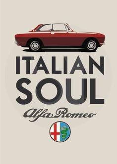 Vintage alpha romeo design.