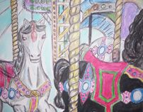 Assorted artwork by Lynda Conway, via Behance