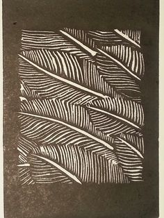 Gervasio Robles. Feather stone. Linecut