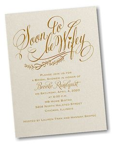 Soon to be Wifey Bridal Shower Invitation
