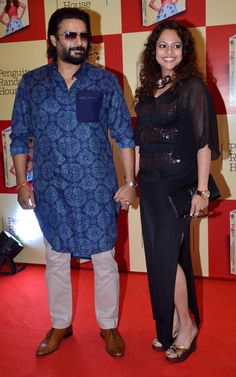 R Madhavan with wife Sarita Birje at the launch of Shilpa Shetty's book 'The Great Indian Diet'. #Bollywood #Fashion #Style #Beauty #Handsome