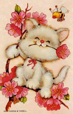 gatito muy primaveral!!!