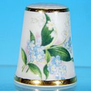 Collectible ROYAL GRAFTON Porcelain Thimble Spring Blooms