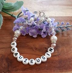Für die beste Freundin und Trauzeugin, feines Perlenarmband