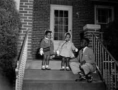 Three well-dressed children on steps April 1955 Scurlock Studio, photographers Scurlock Studio Records, ca. Archives Center, National Museum of American History. Church Pictures, Vintage Black Glamour, American Photo, Black Families, African Diaspora, My Black Is Beautiful, Black History Month, African American History, Women In History