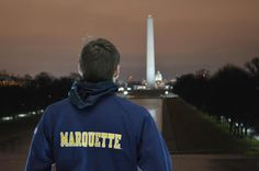 It's been a memorable night in our nation's capital. Sweet and elite dreams, Marquette Nation.   Photo from sophomore Joey Bukowski.