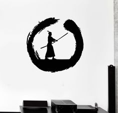 Wall Decal Circle Enso Zen Japanese Samurai Warrior Vinyl Stickers (ig3032) #Wallstickers4you