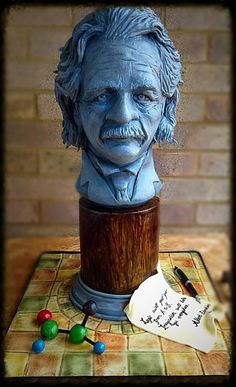 Edible Art | Albert Einstein  - Cake by Bubba's Cakes