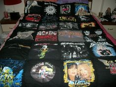 tshirt rag quilt.  the backs of all the concert shirts are the back of the quilt