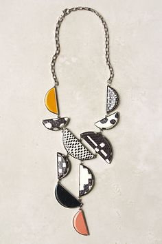Sliced Geometry Necklace | Anthro