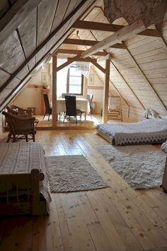 Savory Attic bedroom built in shelves,Attic spaces renovation and Remodel attic into living space. Attic Loft, Loft Room, Bedroom Loft, Attic Office, Attic Ladder, Attic Library, Attic Playroom, Garage Attic, Bedroom Decor