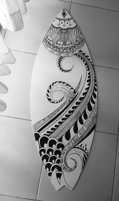 Byher Driftwood Pieces for Crafts Frames Wreath Surf Art Beach Decor - Surfboard Painting, Surfboard Art, Skateboard Art, Skateboard Design, Mandala Design, Mandala Art, Art Surf, Maori Designs, Skate Art