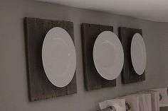 DIY Pallet + Plates = Art
