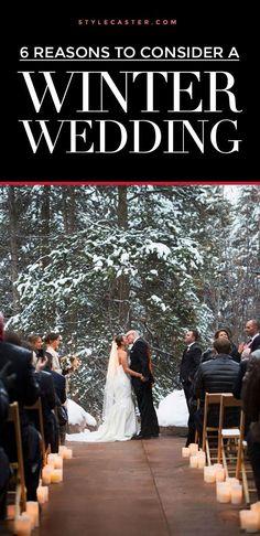 6 MAJOR benefits of having a winter wedding #WinterWeddings