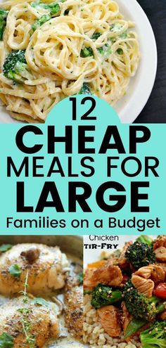 Cheap meals for large families on a budget. Save money with these recipes. Check out these frugal meals for large families! # easy dinner recipes on a budget 12 Delicious Frugal Meal Ideas for Large Families on a Budget - Balancing Bucks Cheap Family Meals, Cheap Easy Meals, Inexpensive Meals, Cheap Dinners, Frugal Meals, Budget Meals, Healthy Cheap Meals, Meals For Large Families, Healthy Recipes On A Budget
