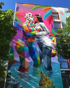 Okuda - for Scale WallArt Munich - Munich, Germany - Jun 2017 / Photo by Graffiti, Street Art, Okuda, 2017 Photos, City Style, Rue, Blogging, Asia, Fair Grounds