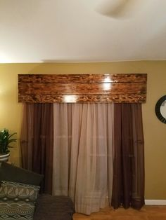 Pallet window valance | Reclaimed wood Projects ...