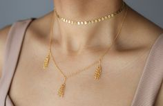 Gold Coin Choker  4mm Gold Disc Necklace  Gold Coin Necklace