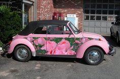 Flowery VW Beetle