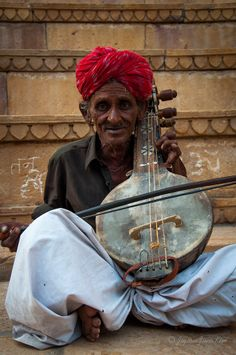 A musician in Rajasthan, India.