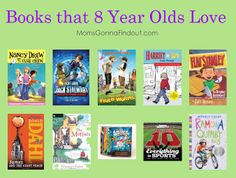 Does your 8 year old devour books? Make sure they have these books in their collection. http://www.momsgonnafindout.com/books-8-year-olds-love/