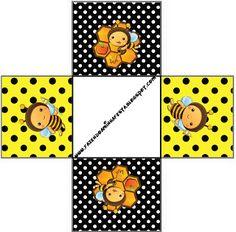Abelhinha - Kit Completo com molduras para convites, rótulos para guloseimas, lembrancinhas e imagens!