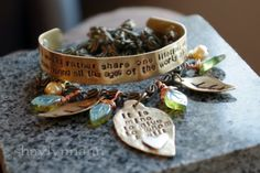 """Arwen LOTR Quote Elven Necklace and Cuff by ShealynnsFaerie, $21.00, quote says, """"I would rather spend one lifetime with you than face all the Ages of this world alone."""" on the cuff and the necklace says,  """"It is mine to give to whom I will""""  $21 for both! I am see the future, and I have this!"""