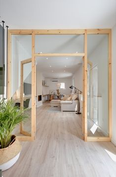 Pretty interior wooden canopy with integrated door. Pretty interior wooden canopy with integrated door. Bamboo Room Divider, Room Divider Walls, Hanging Room Dividers, Sliding Room Dividers, Sliding Door, Pivot Doors, Wall Dividers, Office Room Dividers, Small Rooms