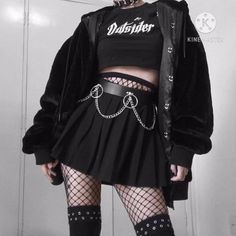 Bad Girl Outfits, Edgy Outfits, Teen Fashion Outfits, Retro Outfits, Grunge Outfits, Cute Casual Outfits, Vintage Outfits, Grunge Clothes, Punk Clothes
