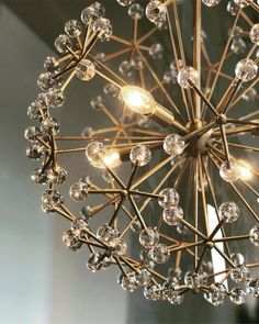 Shaped like a giant bloom, the acrylic beads on our Floral Burst Chandelier diffuse light beautifully. Pendant Lighting Living, West Elm Pendant, Dining Room Chandelier, Creative Lighting Fixtures, Ceiling Pendant, Nook Decor, Hanging Pendant Lights, Chandelier, Burst Chandelier