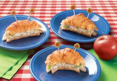 Tuna Salad in Crab Croissants --Kids will love to eat tuna salad in the shape of a crab. Serves 8.