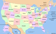 Population of US states compared to cities.