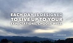Each day is designed...
