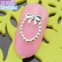 Tint 10PCS RH868 Special Design Bowtie Luxury 3D Alloy nail art DIY Nail beauty Nail Decoration Nail Salon * More info could be found at the image url.
