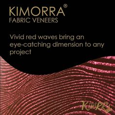 A vivid red from the Kimorra range. How would you use it in your design? We'd love to hear your ideas  #design #interiors #furniture #red #waves #scarlett #vivid #design #pattern #veneer #fabric #Kimorra #interiors #corportate #refit #hotel #office #bespoke